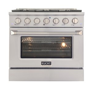 KUCHT Gas Range with Convection Oven in Stainless Steel - 36 in. - 5.2 cu. ft.