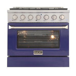 KUCHT Gas Range with Convection Oven and Blue Door - 36 in. - 5.2 cu. ft.