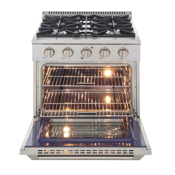 KUCHT Gas Range with Convection Oven in Stainless Steel - 30 in. - 4.2 cu. ft.