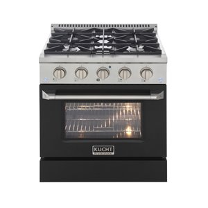 KUCHT Gas Range with Convection Oven and black door - 30 in. - 4.2 cu. ft.