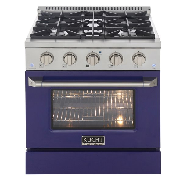 KUCHT Gas Range with Convection Oven and blue door - 30 in. - 4.2 cu. ft.
