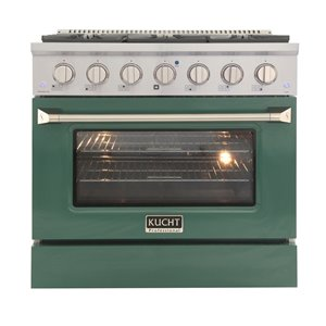 KUCHT Gas Range with Convection Oven and Green Door - 36 in. - 5.2 cu. ft.