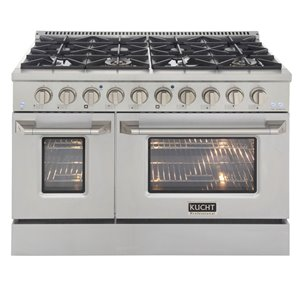 KUCHT Natural Gas Range with 8 Burners Grill/Griddle and Convection Oven - Stainless Steel - 48-in