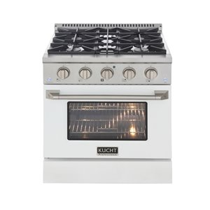 KUCHT Gas Range with Convection Oven and white door - 30 in. - 4.2 cu. ft.
