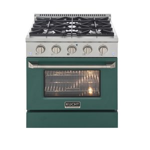KUCHT Gas Range with Convection Oven and Green Door - 30 in. - 4.2 cu. ft.