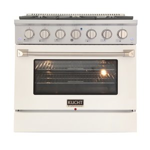 KUCHT Gas Range with Convection Oven and White Door - 36 in. - 5.2 cu. ft.