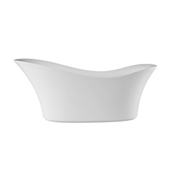 Lukx® Splash Freestanding Bathtub Teresa Center Drain - 69 gallons - 13.8 in Depth - White