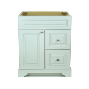 Vanitée Bold Damian de Lukx®, tiroir à droite, 36 po, blanc antique