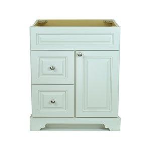 Vanitée Bold Damian de Lukx®, tiroir à gauche, 36 po, blanc antique