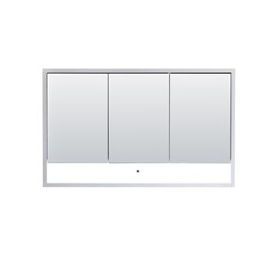 Lukx® Modo Alex Medicine Cabinet with LED light - 48-in x 6-in x 29-in - Gloss White