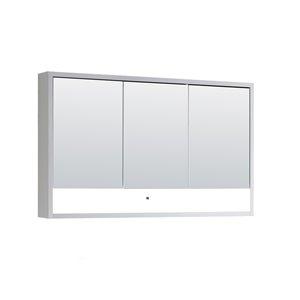 Cabinet  à médicaments Modo Alex de Lukx® avec lumière DEL, 48-po x 6-po x 29-po, blanc satiné