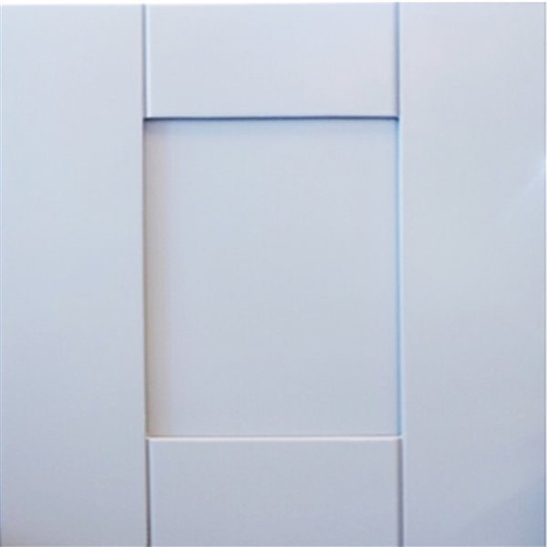 Vanitée avec comptoir en Quartz Brun Royal Bold Damian de Lukx®, tiroir à droite, 36 po, gris
