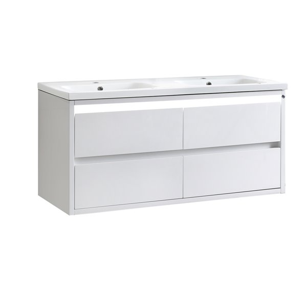 Lukx® Modo Alex Vanity with Ceramic Top - 48-in - White