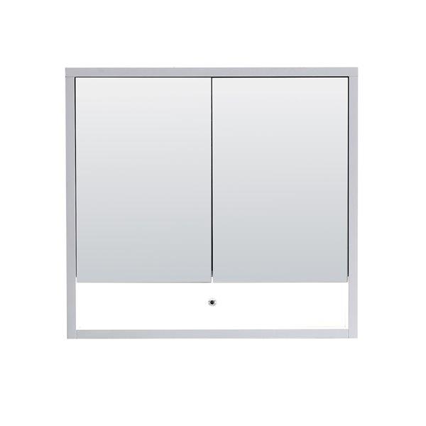Cabinet  à médicaments Modo Alex de Lukx® avec lumière DEL, 32-po x 6-po x 29-po, blanc satiné