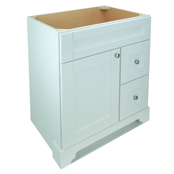 Lukx® Bold Damian Vanity - Right Side Drawer - 24-in - White