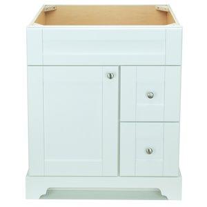 Vanitée Bold Damian de Lukx®, tiroir à droite, 24 po, blanc
