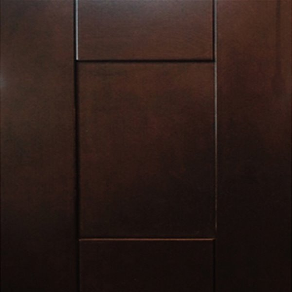 Lukx® Bold Damian Vanity With Royal Brown Quartz countertop - Right Side Drawer - 36-in - Espresso