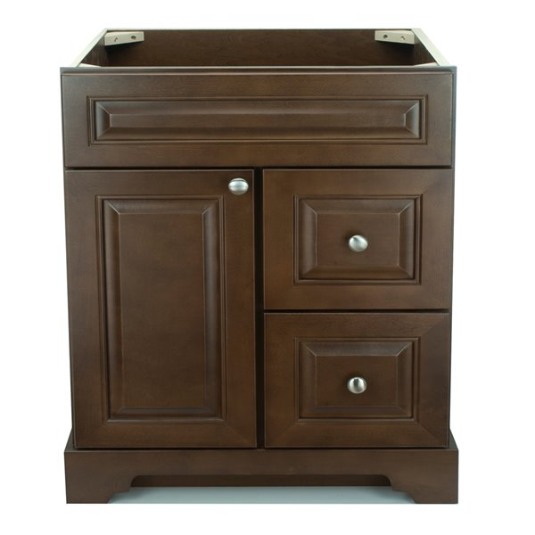 Lukx® Bold Damian Vanity - Right Side Drawer - 30-in - Royalwood