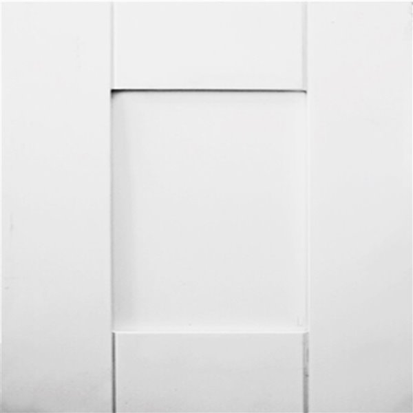 Lukx® Bold Damian Vanity With Carrera Quartz countertop - Left Side Drawer - 36-in - White