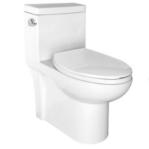 Toilette monobloc évasée de Lukx®