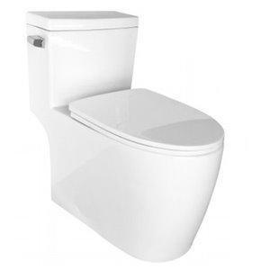 Toilette monopièce allongée à bords définis de Lukx®