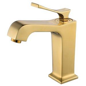 Robinet de lavabo à 1 poignée Victoria Splash de Lukx®, or