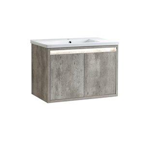 Vanité avec comptoir en céramique Modo Mark de Lukx®, 32-po, gris