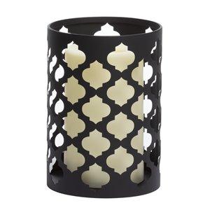 Photophore lumineux en métal avec minuterie programmable de Candle Impressions, 4,25 po x 6 po