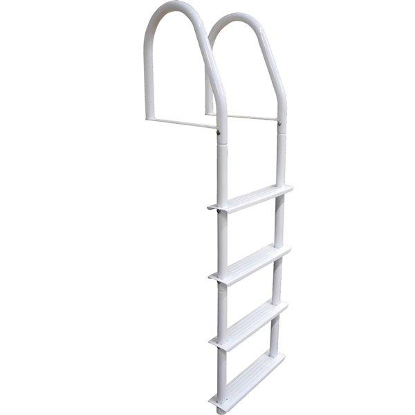Dock Edge Fixed Dock Ladder - 4-Step - White Galvalume