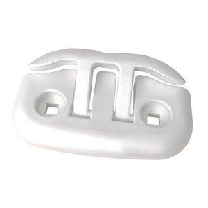 Taquet d'amarrage pour quai Flip-Up Premium de Dock Edge, 6 po, aluminium blanc