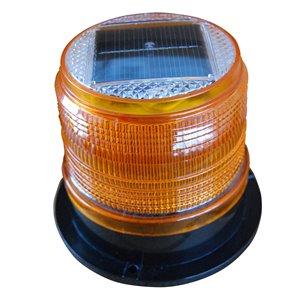Feu de position solaire de Dock Edge, 4,87 po x 3,94 po, ambré