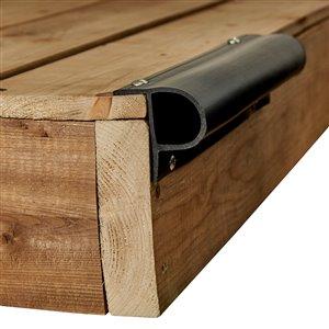 Butoir de quai robuste ProDock de Dock Edge, en forme de petit P, 8 pi, noir, ens. de 3