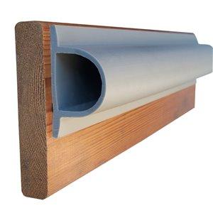 Butoir robuste en forme de D ProDock de Dock Edge, section de 8 pi, gris, ens. de 3