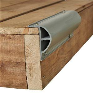 Butoir pour quai robuste ProDock de Dock Edge, 8 pi, gris, ens. de 3