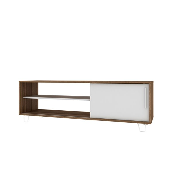 Manhattan Comfort Boden TV Stand - 53.15-in - Oak and White