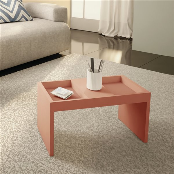 Manhattan Comfort Marine Coffee Table - 26.77-in x 14.17-in - Pink