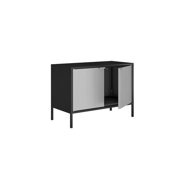 Manhattan Comfort Smart TV Stand Cabinet - 27.55-in - Black and Grey