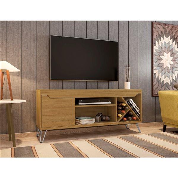 Manhattan Comfort Baxter TV Stand - 53.54-in - Cinnamon Brown