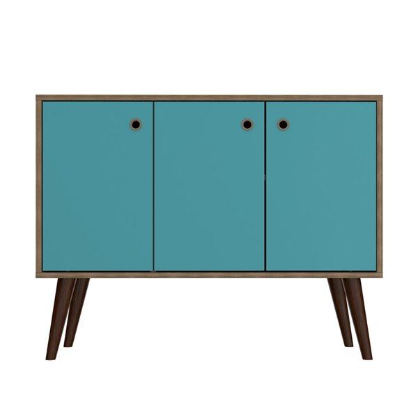 "Bromma 35.43"" Sideboard 2.0 in Oak and Aqua Blue"