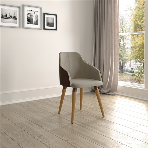 Manhattan Comfort Martha Dining Accent Chair - Brown