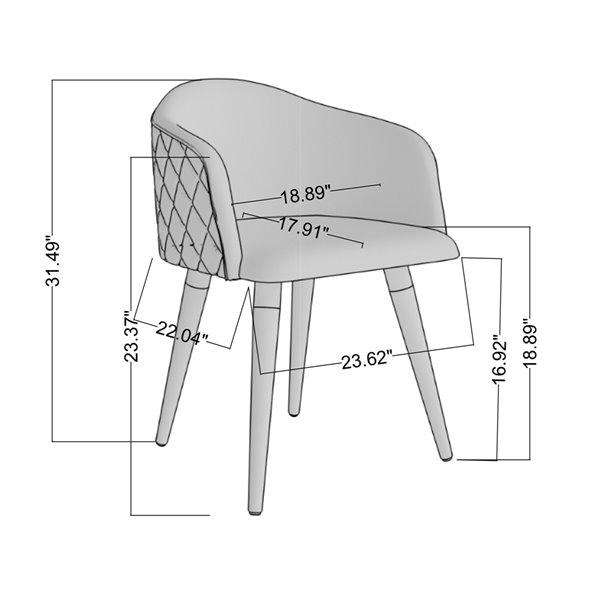 Manhattan Comfort Kari Dining Accent Chair - Beige