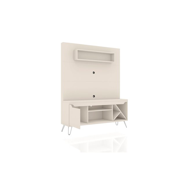 Manhattan Comfort Baxter Freestanding Entertainment Center - 53.54-in - Off-White