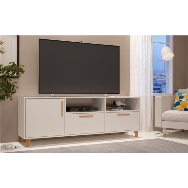 Manhattan Comfort Herald TV Stand - 53.15-in - White