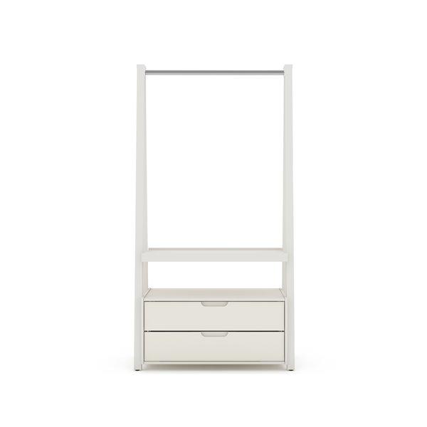 Manhattan Comfort Rockefeller Open Wardrobe Armoire - 38.62-in x 71.42-in - Off-White