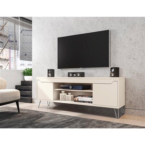 Manhattan Comfort Baxter TV Stand - 62.99-in - Off-White