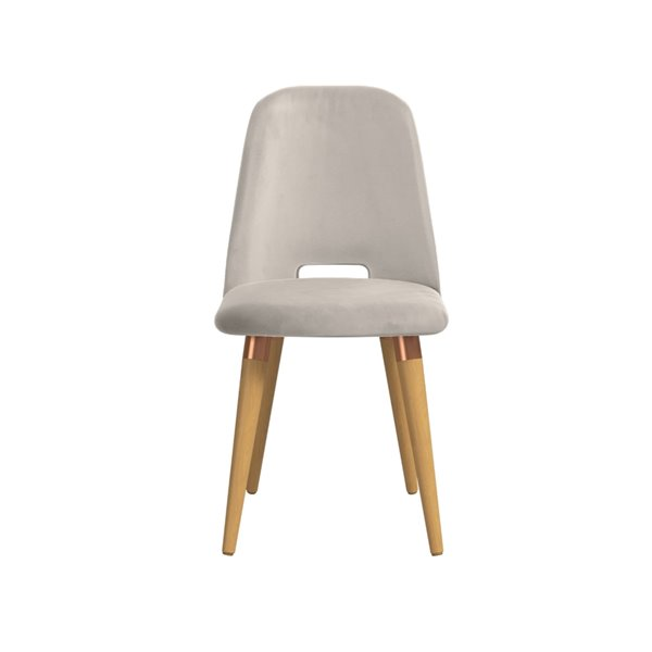 Manhattan Comfort Selina Dining Accent Chair - Beige - Set of 2