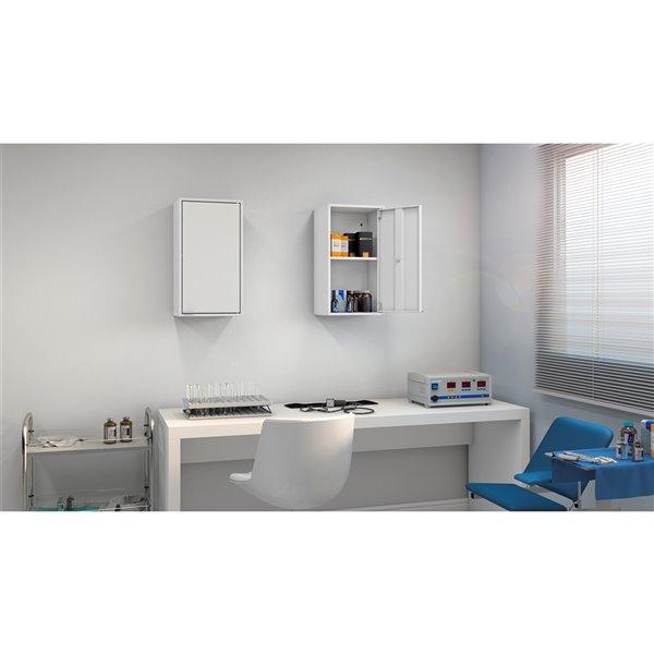 Manhattan Comfort Smart Floating Storage Cabinet - White
