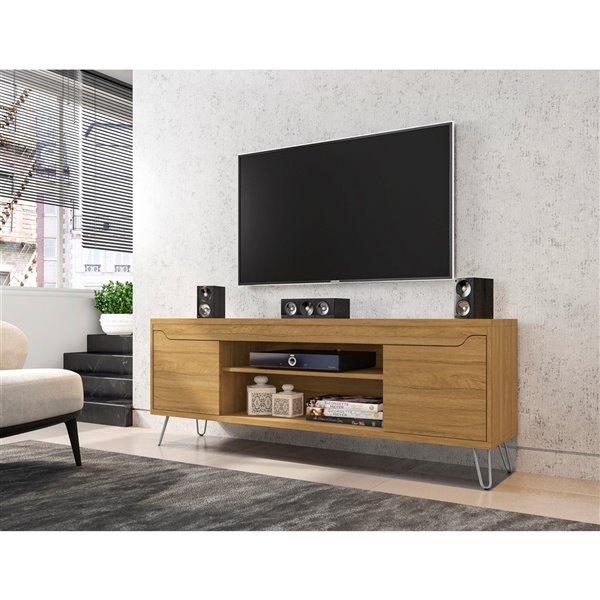 Manhattan Comfort Baxter TV Stand - 62.99-in - Cinnamon Brown