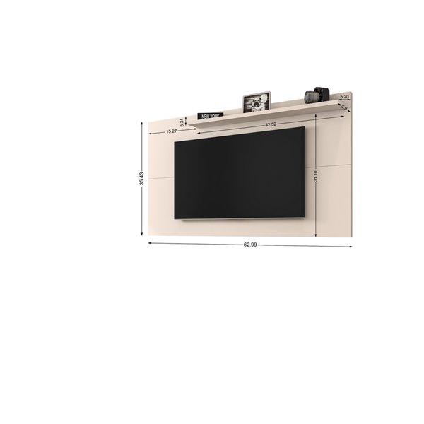 Manhattan Comfort Liberty TV Panel - 62.99-in - Off-White