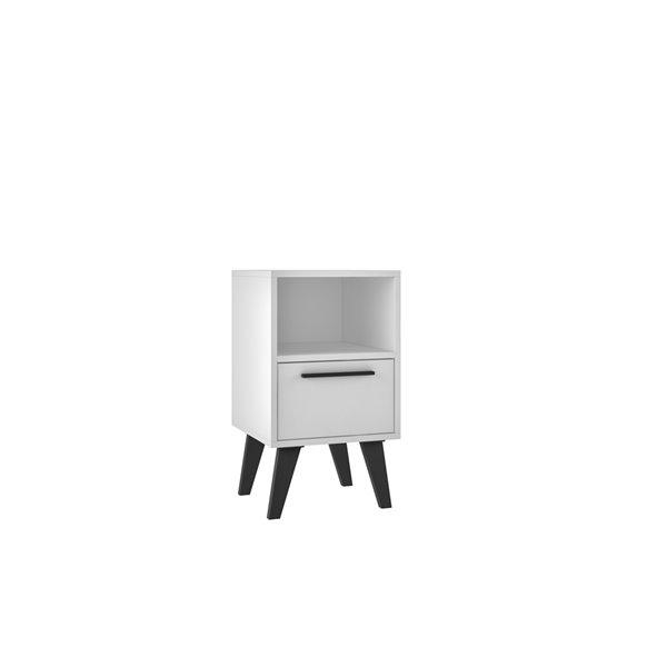 Manhattan Comfort Amsterdam Nightstand - 23.03-in - White